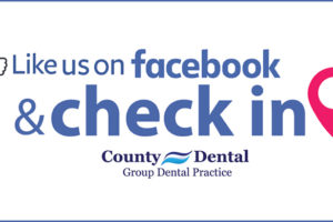 Like Us at Suffern County Dental and Check-In on Facebook